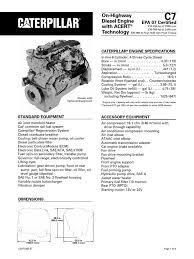 Caterpillar C7 Engine Specs | Diesel Engine | Horsepower