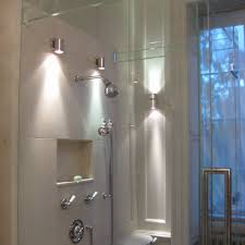 walk in shower lighting. Wall Lights For Bathroomwer With Brushed Nickel Sconces Lighting Ideas Bathroom Shower Recessed Placement Waterproof Room Walk In S