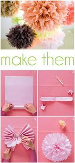 How To Make Tissue Paper Balls Decorations 100 DIY Tissue Paper PomPoms Tissue paper Paper pom poms and Globe 99