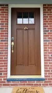 wood look fiberglass door updates
