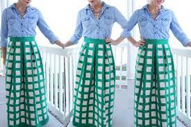 Pleated Skirt Pattern Stunning Women's Pleated Maxi Skirt DIY