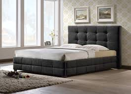 Serene King Size Bed In Charcoal Grey Modern Bedroom
