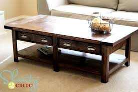 Build a rustic coffee table from pine boards! Inspired by the Pottery Barn  Benchwright Coffee Table, this step by step plan shows you how to build  your own ...