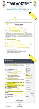 Infographic How To Tailor Your Résumé To The Job You Want Classy How To Tailor A Resume To A Job