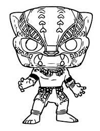 Kleurplaat Funko Pop Marvel Black Panther 3
