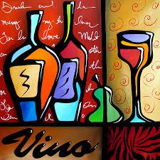 abstract art paintings painting vino by tom fedro fidostudio