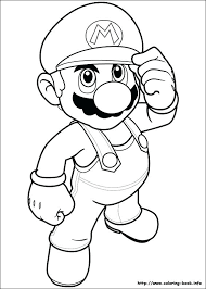 Super Mushroom Coloring Pages Mario Dry Bones Betterfor