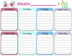 Homework Agenda Templates Printable Printable Homework Agenda Sheet Weekly Calendar Template