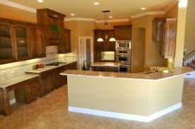 Granite With Cream Cabinets Cream Island With Granite Countertop Also Marble Flooring Tile