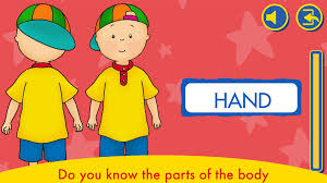 learn the body with caillou tap tap tales