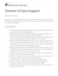 director job description director of sales support job description