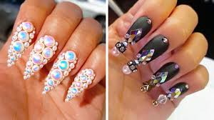 Nail Designs With Jewels Acrylic Nail Designs Zimer Bwong Co