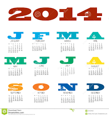 12 month 2014 12 month calendar stock vector illustration of chart 29162462