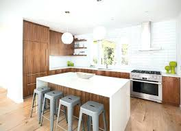 brown and white kitchen walls cabinets with dark wood floors countertops
