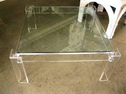Acrylic Table with Glass - Coffee Table - Wisteria
