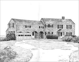 architectural house drawing. Beautiful House Commission  In Architectural House Drawing C