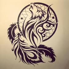 Cool Dream Catcher Tattoos Amazing Dream Catcher With Cool Feather Stencil Tattoo Golfian 42
