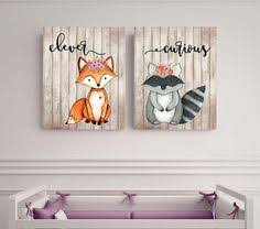 woodland animals fox nursery woodland theme woods1 raccoon personalized nursery decor baby shower gift wall art fox unframed on safari themed nursery wall art with jungle animals nursery gift for baby zoo animal nursery signs