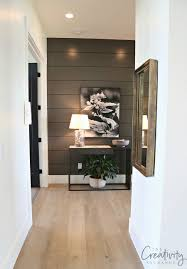 painted shiplap wall color is benjamin moore kendall charcoal