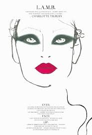 makeup face charts template image collections template design ideas