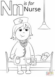 complete nurse coloring pages n is for page free