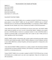 Free Recommendation Letter Sample Leadership Letters Of