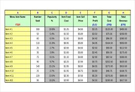 Mess Menu Chart 47 Menu Templates Free Excel Pdf Word Psd Free
