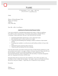 cover letter team player manufacturing manager cover letter