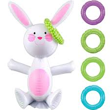 Did you scroll all this way to get facts about funny bunny face? Inflatable Easter Bunny Ring Toss Party City