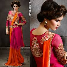 Fantastic color combination #Bright #Pink & #Orange! Keep this ethnic yet  modern