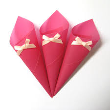 Paper Cones For Flower Petals Pink Confetti Cones For Your Flower Petal Wedding Confetti