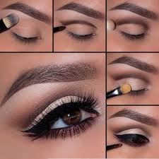 get this gorgeous everyday look that you can wear even at your work place blend in soft brown eye shadow on your eyelid and then sweep a dark brown shade