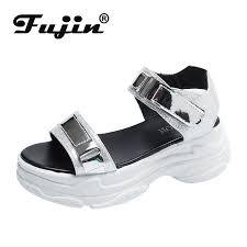 Fujin Summer Fashion <b>Women</b> Sandals <b>Dropshipping</b> PU Fish ...