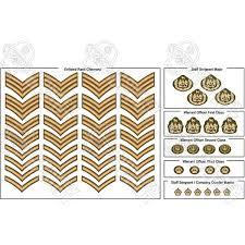 British Rank Insignia Chart Insignia Cvi British Commonwealth Army Rank Insignia