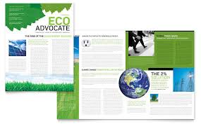 Word Templates For Newsletters Environmental Non Profit Newsletter Template Word Publisher