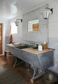 Rustic industrial bathroom 1