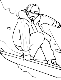 Image Result For Snowboarder Coloring Sheet