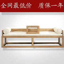 brothers furniture old elm ocean bed new chinese modern chinese solid wood sofa bed couch zen bed