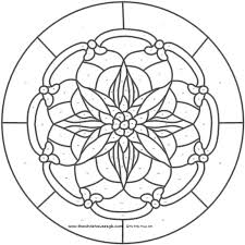 Stained Glass Flower Patterns