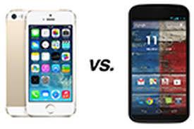 Apple iPhone 5S vs. Motorola Moto X ...