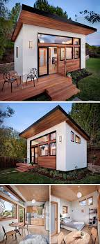 backyard guest house. This Small Guest House Was Prefabricated Before Being Put Together In The Backyard Of Home And Features A Kitchen, Bathroom, Dining Spot, Sleeping Area