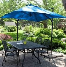 outdoor lighting led rectangular patio umbrella blue and white striped patio umbrella 11 ft offset