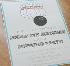 Free Bowling Party Invitations For Kids Guluca