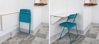 16 Wall Desk Ideas That Are Great For Small Spaces // This white folding  wall