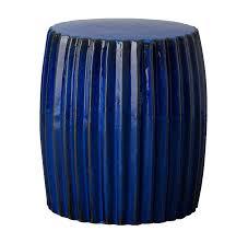 cobalt blue garden stool cobalt blue ceramic garden stool contemporary dark green twist garden stool each