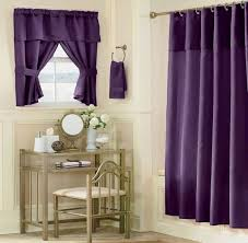 Purple Bathroom Window Curtain Picture