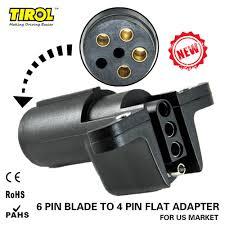 Semi Trailer Light Plug Tirol 6 Way Round Pin To 4 Way Flat Trailer Wiring Adapter