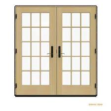 black french doors patio. Contemporary Patio W4500 Black Clad Wood LeftHand Throughout French Doors Patio I