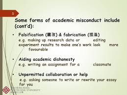 academic integrity what is academic integrity ppt 5 some forms of academic misconduct include cont d falsification ccedil 132aelig148sup1