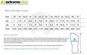 Scarpa Size Chart 44 Thorough Scarpa Size Guide